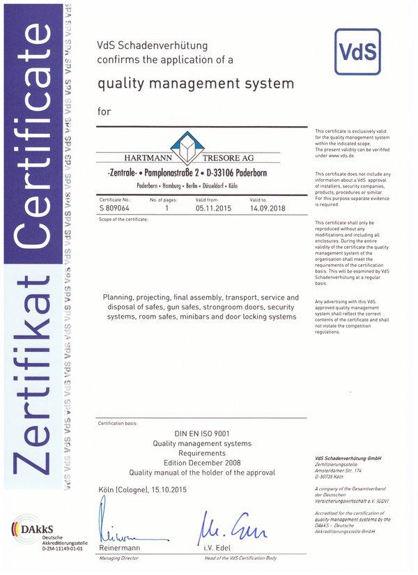 Certificat Hartmann