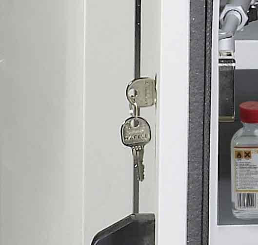 Serrure de sécurité sur chaque porte