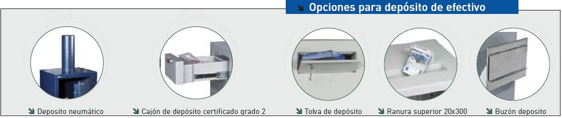 Opciones cajas fuertes zephir