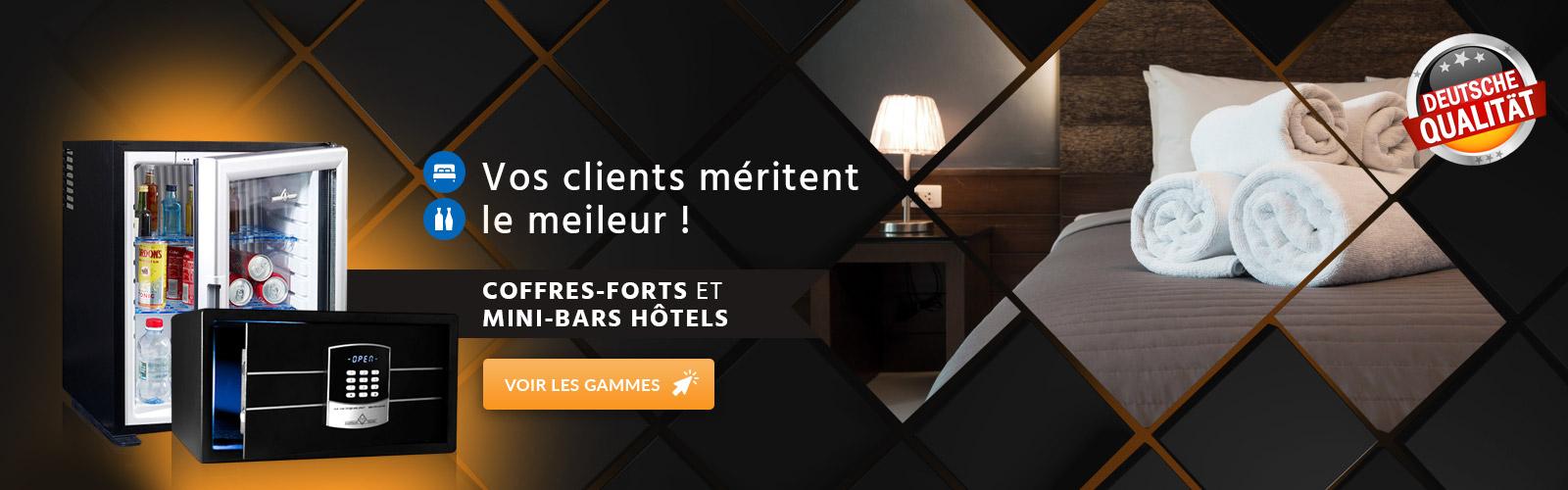 Coffre fort et Mini bars pour hôtel